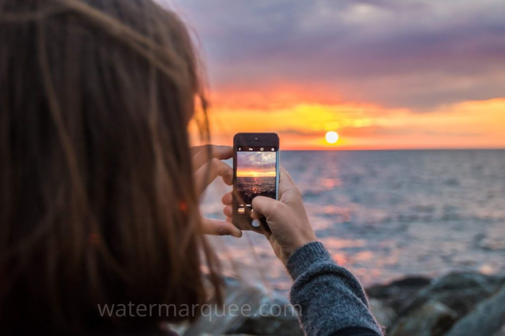 Visible watermarks can help advertise your photos.